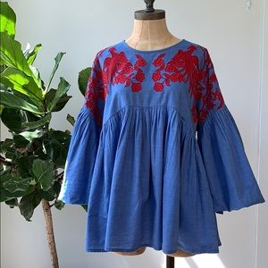 Anthropologie Puff Sleeve Top